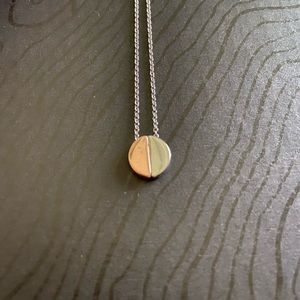 Two Tone Circle Necklace
